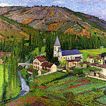 Henri-Jean-Guillaume Martin - The Church at Labastide 1920