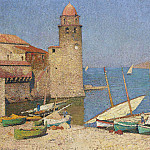 Henri-Jean-Guillaume Martin - Ships at Port Collioure
