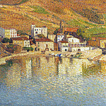 Henri-Jean-Guillaume Martin - Baie de Colliure avec le Port aka The Bay of Colliure near the Port 1897