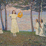 Henri-Jean-Guillaume Martin - Poetesses on a Take Shore