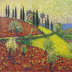 Henri-Jean-Guillaume Martin - Cyprus Trees on the Hill