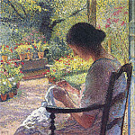 Henri-Jean-Guillaume Martin - A Woman Sewing