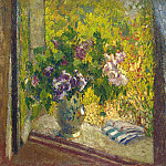Henri-Jean-Guillaume Martin - Vase of Flowers in a Window