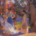 Henri-Jean-Guillaume Martin - Women sewing at the Pergoal in Marquayrol 1912