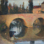 Henri-Jean-Guillaume Martin - Woman Washing Clothes in River