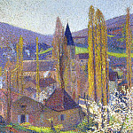 Henri-Jean-Guillaume Martin - Church in Labastide in Spring