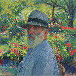 Henri-Jean-Guillaume Martin - Self Portrait in the Garden