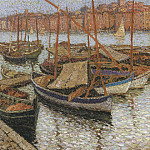 Henri-Jean-Guillaume Martin - Sailboats in the Port