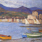 Henri-Jean-Guillaume Martin - Sailboats in the Port of Collioure 1920