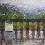 Henri-Jean-Guillaume Martin - Terrace in the Rain in Marquayrol