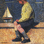 Henri-Jean-Guillaume Martin - A Boy with Sailboats