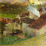 Henri-Jean-Guillaume Martin - The Center of La Bastide du Vert 1910