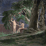 John Martin - Eve gives Adam the forbidden fruit. Paradise Lost by John Milton