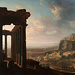 Jacques-Louis David - Ruins of an Ancient City