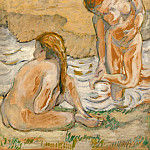 Lovis Corinth - Two bathing women