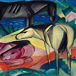Franz Marc - Three Horses II