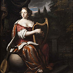 A Lady Playing the Harp
