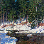 Willard Leroy Metcalf - icebound 1909