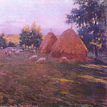 Willard Leroy Metcalf - haystacks c1888
