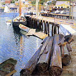 Willard Leroy Metcalf - Fish Wharves Gloucester