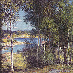 Willard Leroy Metcalf - a family of birches 1907