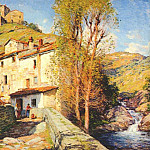 Willard Leroy Metcalf - old mill, pelago, italy 1913