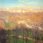 Willard Leroy Metcalf - early spring afternoon (central park) 1911