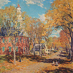 Willard Leroy Metcalf - october morning, deerfield 1917