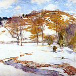 Willard Leroy Metcalf - snow in the foothills c1920-5