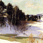 Willard Leroy Metcalf - Metcalf Willard L Thawing Brook