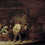 Drinking Peasants [Attributed]