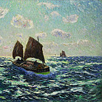 Henry Moret - Fishing Boat in Brittany 1904