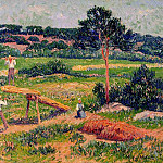 Henry Moret - Bretons Working with Wood 1911