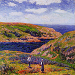 Henry Moret - Cliffs at Clohars Carnoet 1910