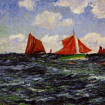 Henry Moret - Fishing Boats off the Coast 1902
