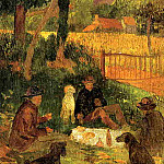 Henry Moret - The Artists Picnic 1889