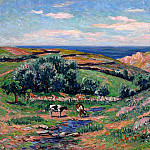 Henry Moret - A Valley in Sadaine the Bay of Douarnenez 1912