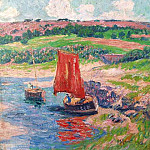 Henry Moret - Two Boats on the River 1909