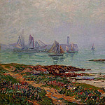 Henry Moret - Misty Day at Dielette the Manche 1912
