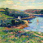 Henry Moret - River in Belon 1908