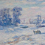 Henry Moret - Snow at Quimper