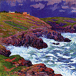 Henry Moret - Storm the Coast of Finestere 1898