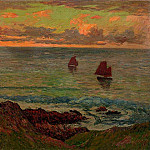 Henry Moret - Evening at Doelan 1895
