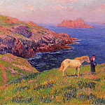 Henry Moret - Cliff at Quesant with Horse 1895