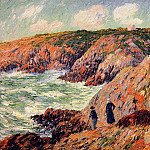 Henry Moret - Cliffs of Moelian Finistere 01 1901