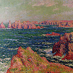 Henry Moret - The Cliffs at Belle Ile 1901