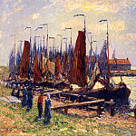Henry Moret - The Port of Volendam 1900