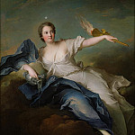 Portrait of Marie-Anne de Mailly-Nesle () Marquise of La Tournelle as Eos, De Schryver Louis Marie