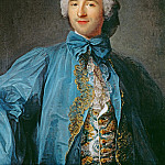 Jean Marc Nattier - Portrait of a gentleman in a blue coat