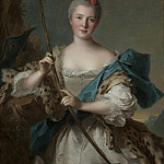 Jean Marc Nattier - Portrait of a Woman as Diana